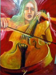 Jess with cello  (sold)